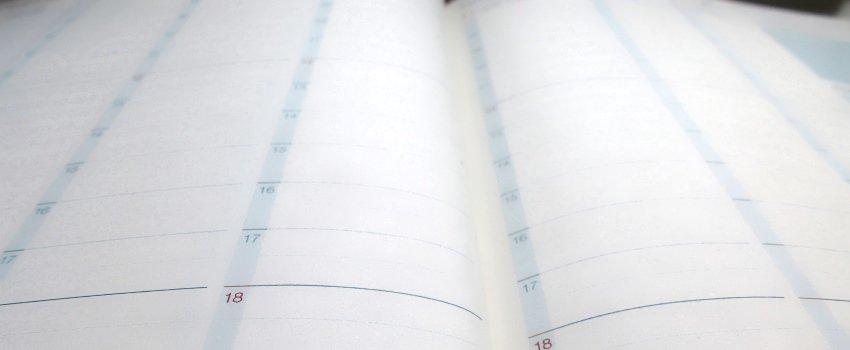 leerer Kalender